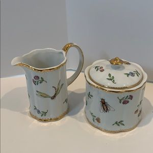 I. Godinger & Co. sugar bowl and creamer